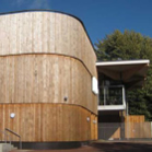 Curved timber cladding
