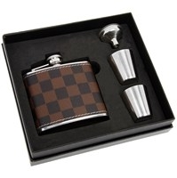 Hip Flask 2 Cups Brown Flask 10 X 10 X 2cm