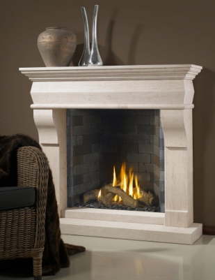 Bellfire - Classic - brick interior - Glass fronted Gas fire