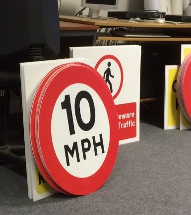 Correx printed signs