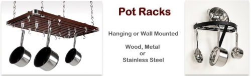 Kitchen storage hanging and wall pot racks