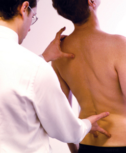 The osteopath may test your spine