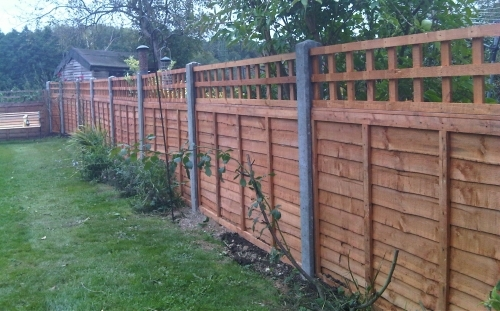 1500mm High Timber Panel Fencing Trellis