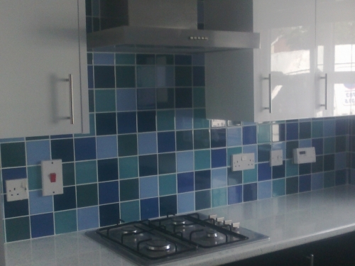 recently tiled splashbacks