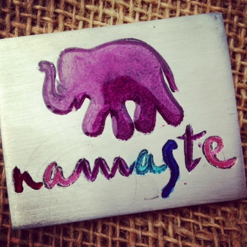Namaste Purple Elephant