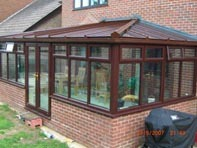 Rosewood conservatory in Wickham market