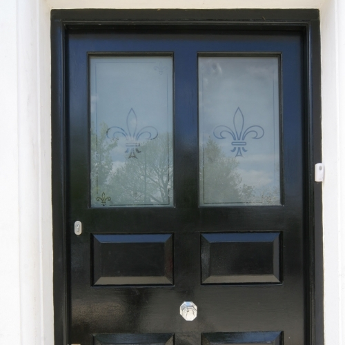 Sandblasted Front Door Glass