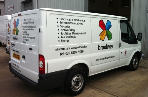 Van Sign Writing - Vinyl lettering and printed logo