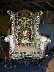 High Back wing arm chair over 200 years old