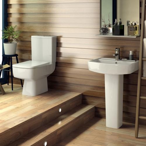 Paulo 600 Full Ped Basin & Toilet Set
