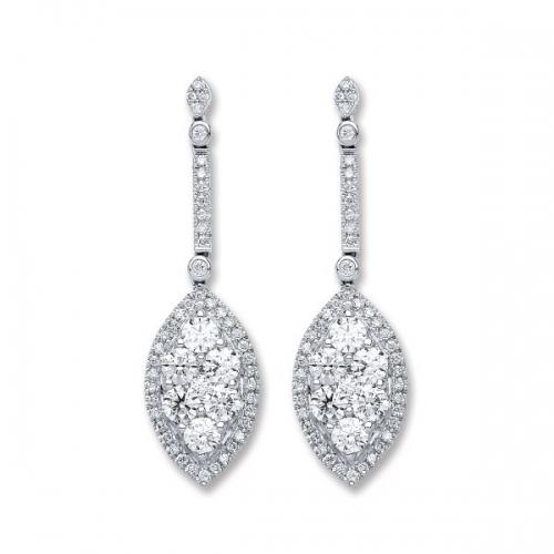Diamond Earrings By Silver Aura Jewellery - Sader00091 600x600
