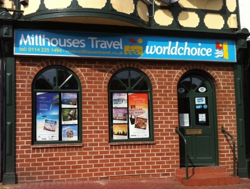 Millhouses Travel Shop Front 2