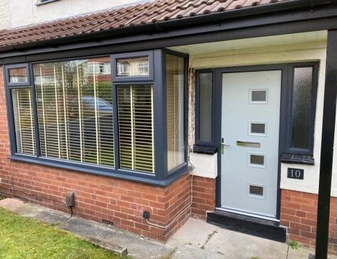 Grey Windows and Composite Door