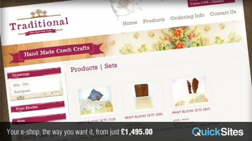 QuickSites E-Commerce Website in 10 working days.