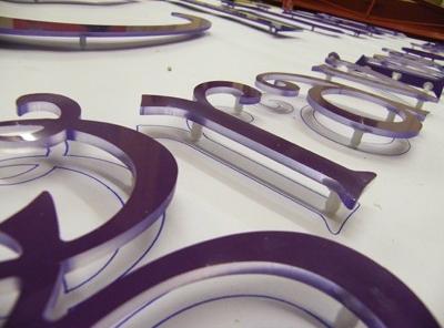 Flat Cut Acrylic Letters