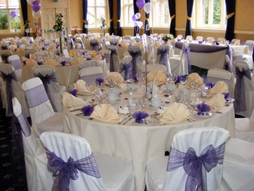 Chair covers and sashes at Bestwood Lodge Hotel, Nottingham