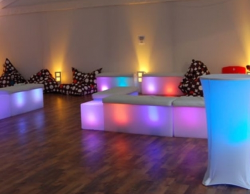 Multicoloured Led Bench Chairs