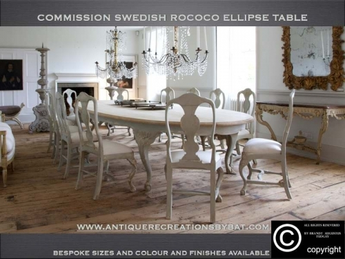 Bespoke Swedish dining table and chairs.  many variations available. www.bespokefurnituremakers.company