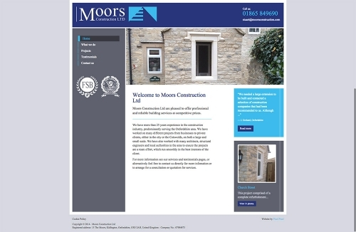 Moors Construction Website