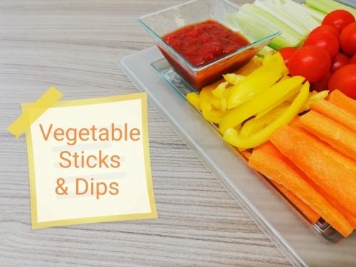 Vegetable Sticks Dips