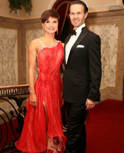Andrew Cuerden and Viktoriya Wilton hosting The London Gala Ball 2015