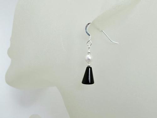 Elegant Black White Earrings