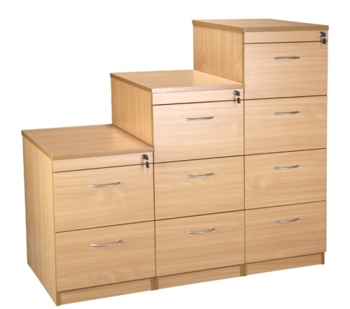 FILING CABINET AVAILABLE : 2, 3 & 4 DRAW . COLOUR : BEECH AND OAK. SIZE: 2d 474 , 3d 1014 AND 4d 1298
