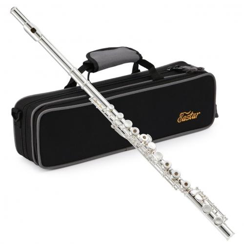 Eastar EFL-2: Open/Close Hole C Flutes 16 Keys Silver Plated Beginner Flute Set