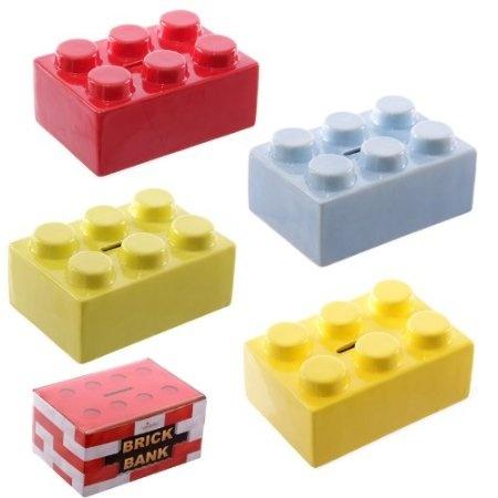 Lego brick moneybox