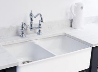 Shaker kitchen with butler sink