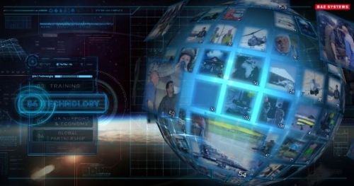 """Interactive presentation for BAE Systems 152"""" touchscreen"""