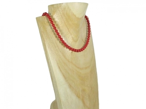 Coral Red Pearls Necklace