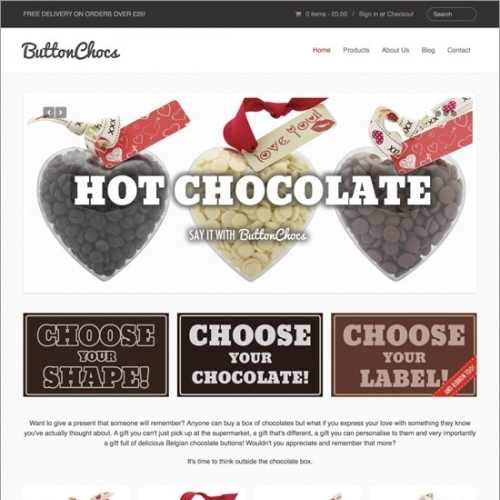 Buttonchocs Website