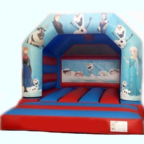 Frozen bouncy castle from Kingdom of Bounce