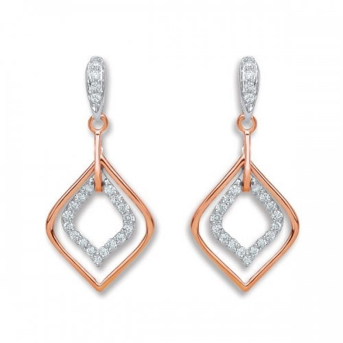 Diamond Earrings By Silver Aura Jewellery - Sader00073 600x600