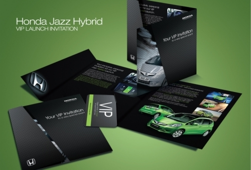 Mailer and promotional marketing for Honda Jazz Hybrid Launch