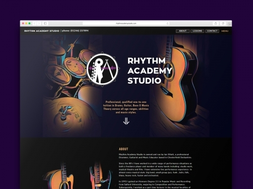 Rhythm Academy Studio Website Design