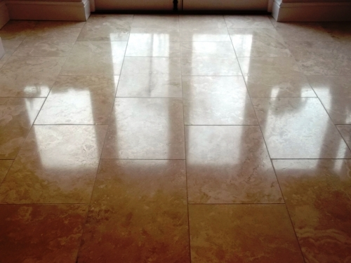 Travertine Tiled Floor After 278