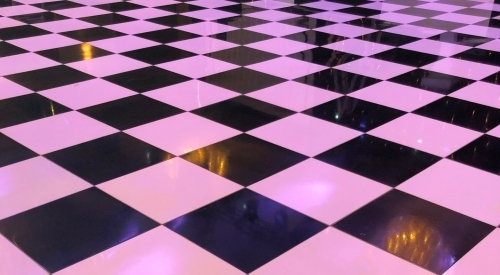 Black and White chequered floor