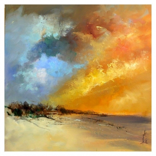 "Farrell Doyle ""Sun Blaze 76x76 Oil On Canvas £1,500"