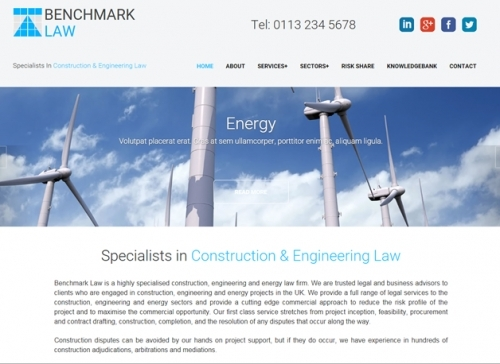 Benchmark Law Website