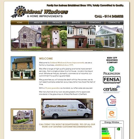 Website Design Sample 1 - Goldseal Windows