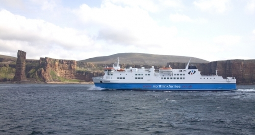 Northlink Ferries Hamnavoe Passing Old Man Of Hoy Orkney