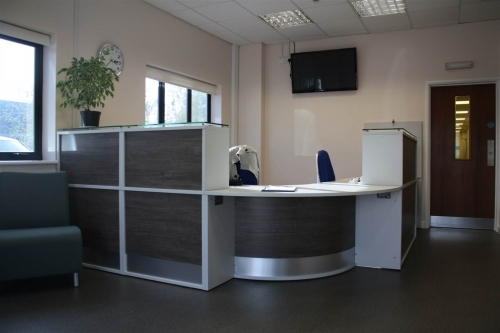 Refurbished Reception Area with Custom Designed Desk