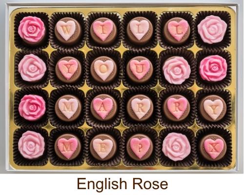 Personalised fondant filled chocolates
