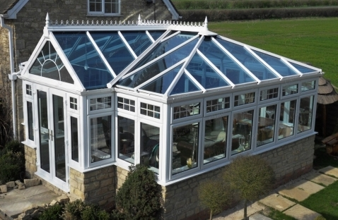 UPVC Conservatory with Blue Active self cleaning roof
