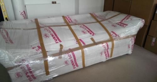 wrapped sofa