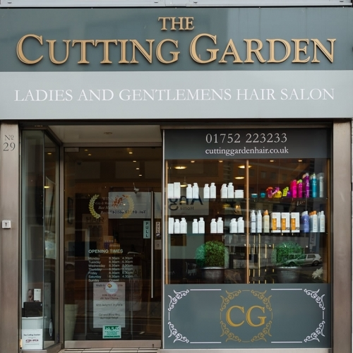 Hairdresser In Plymouth The Front Of Shop The Cutting Garden