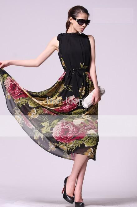 Bohemian Printed maxi dress
