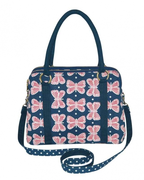 Butterfly Alice Linen Bag Navy Blue